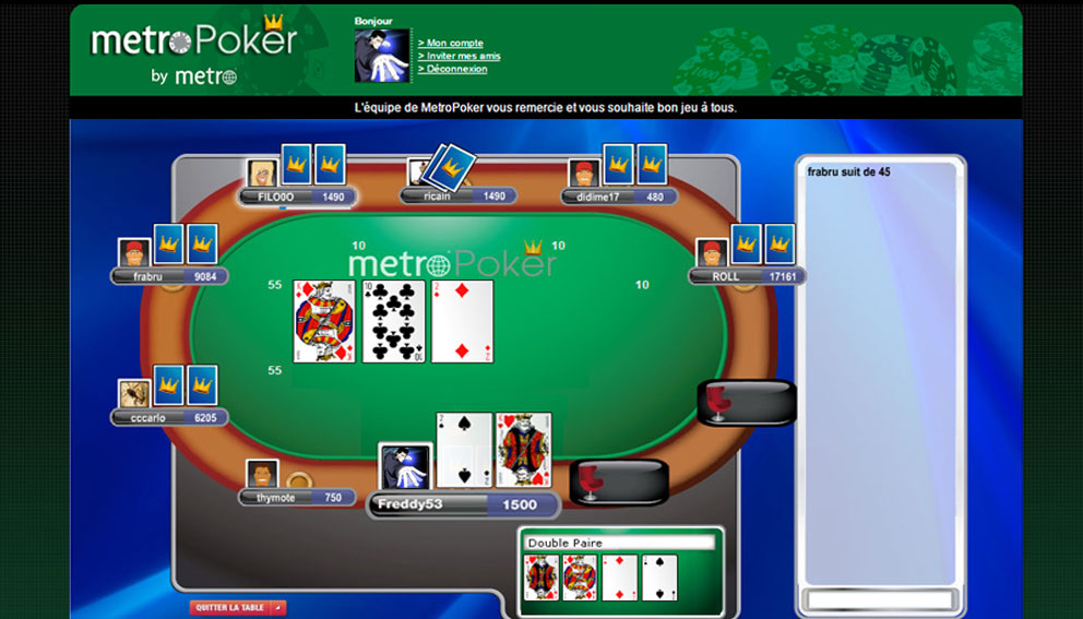 metroPoker poker table