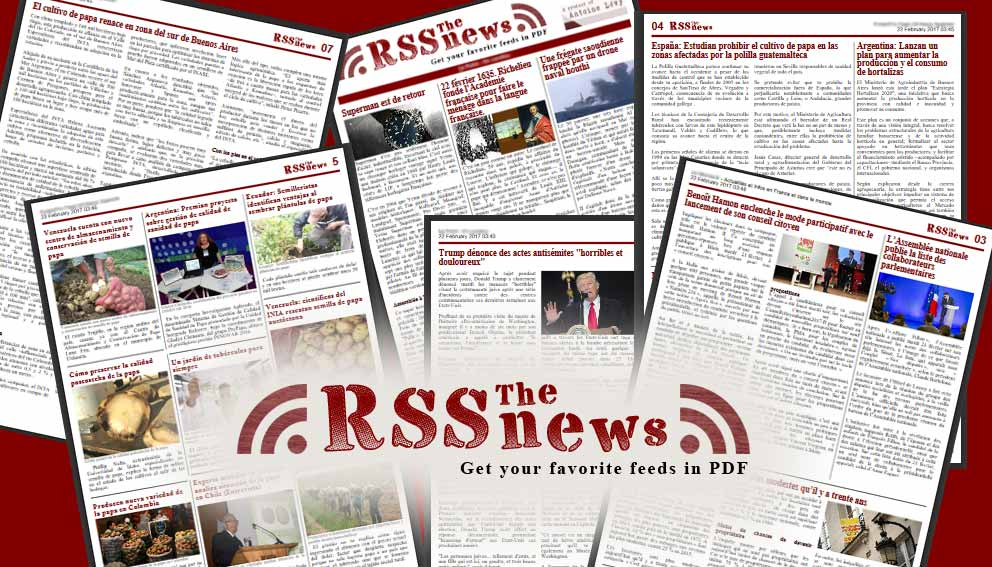 RSSnews, get your favorite feeds in PDF