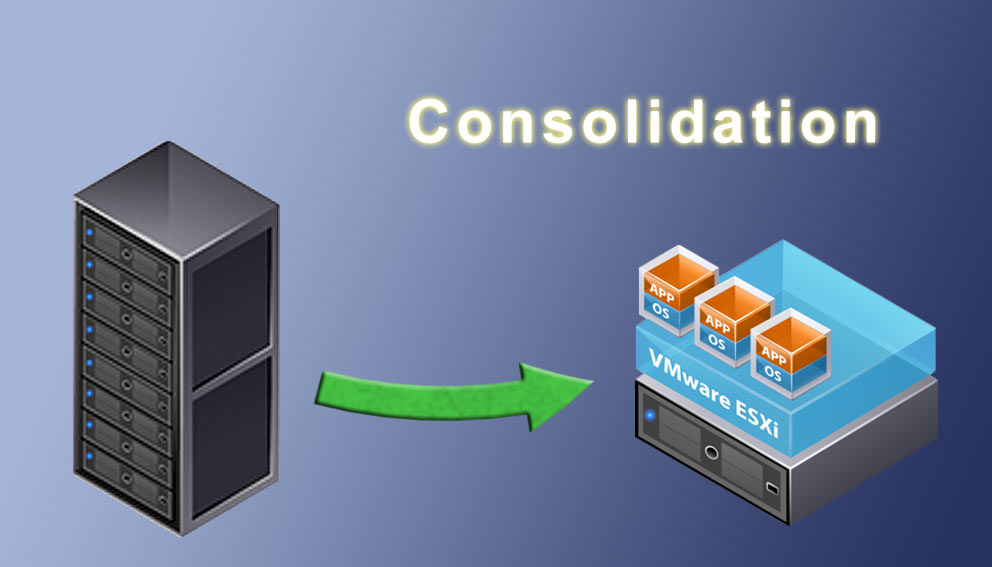 Consolidation via la virtualisation